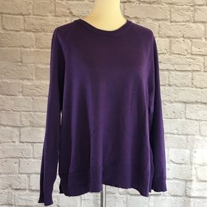 Eileen Fisher Purple pullover sweater size M